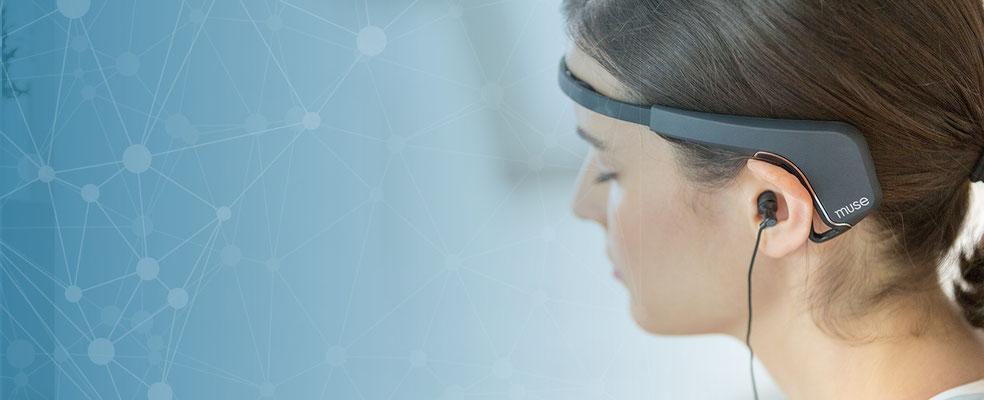 5. Fitnesstrainer fürs Gehirn von Muse. Das Stirnband kann Hirnströme messen. Wird bisher vor allem für Meditation genutzt.
