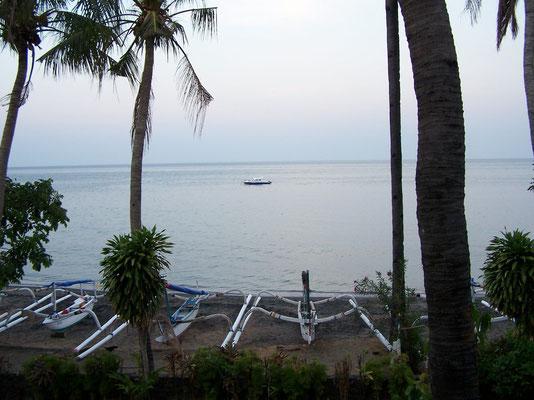 La plage d'Amed à Bali