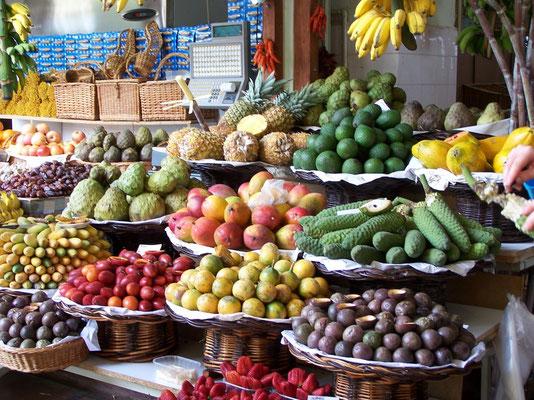 Les fruits exotiques de l'Ile de Madère