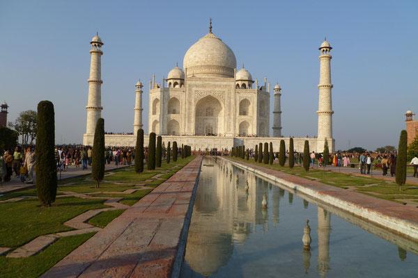 Le majestueux Taj Mahal