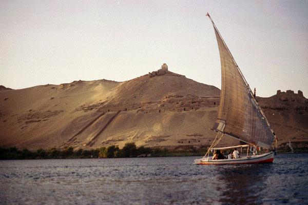 Le long du Nil à Louxor