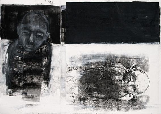 GONE | Mixed Media/Papier | 100 x 70 cm | 2011