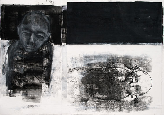 GONE | Mixed Media/Papier | 100 x 70 cm | 2011