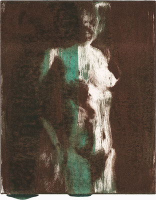 OHNE TITEL | Monotypie/Papier | 20 x 25 cm | 2009