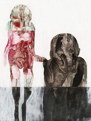 ABSONDERUNG | Mixed Media/Papier | 42 x 56 cm | 2011