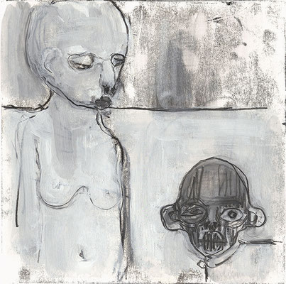 OHNE TITEL | Monotypie/Papier | 20 x 20 cm | 2011