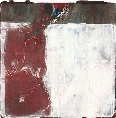 OHNE TITEL   Monotypie/Papier   20 x 20 cm   2011