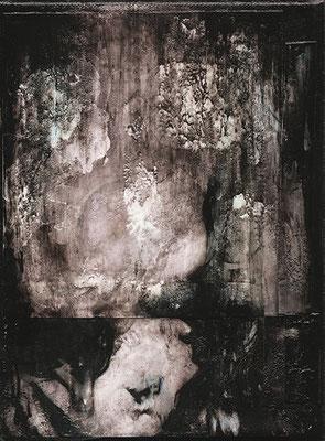 HALS ÜBER KOPF | Mixed Media/Leinwand | 18 x 24 cm | 2010