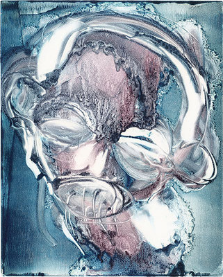 BRAINWASH 1 | Monotypie/Papier | 20 x 25 cm | 2010