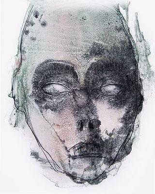 OHNE TITEL   Monotypie/Papier   40 x 50 cm   2010