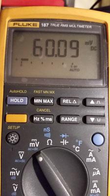 60 mVcc corrispongono a 3000 A cc