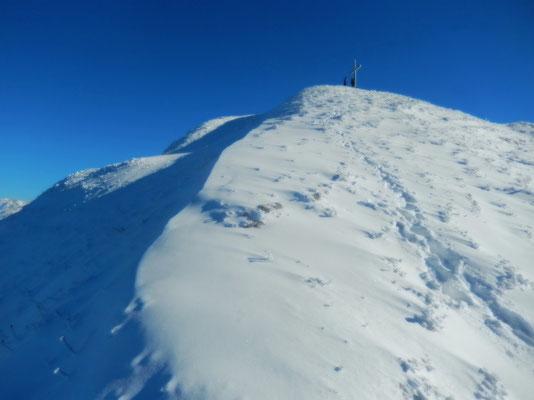 Am Gipfelgrat des Le Grammont