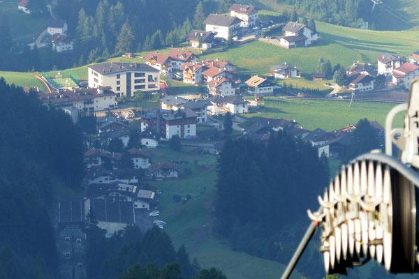 Blick vom Col Raiser auf St. Christina