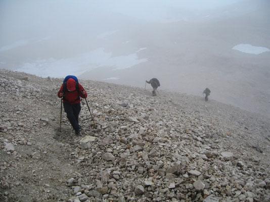 Aufstieg zum Gipfel - Südflanke