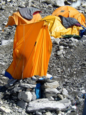 Mount Everest-Basecamp - Toilettenzelt