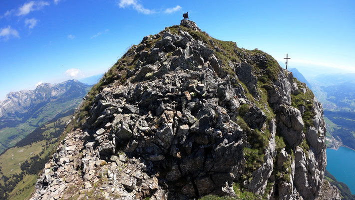 Am Gipfel des Frümsel - 2263 M