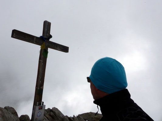 Am Gipfel des Sparrhorn - 3021 M