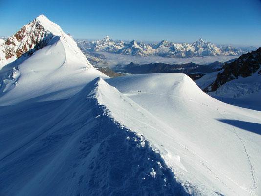 Ludwigshöhe - Gipfelgrat im Abstieg