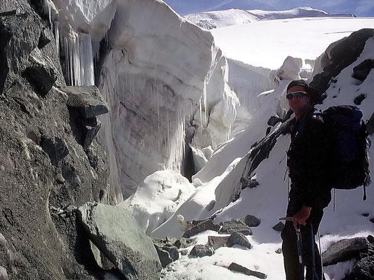 Zwischen Felswand und Eisbruch