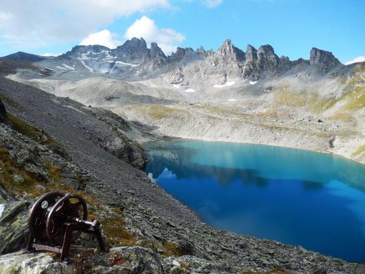 Blick von der Wildseeluggen zur Pizol-Bergkette