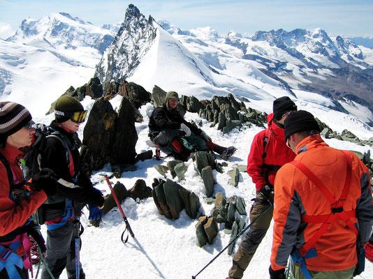 Gipfelblick zur Monte Rosa