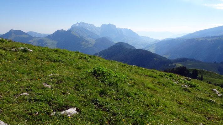 Gipfelblick: Alpsteinmassiv