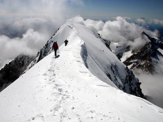 Gipfelgrat - Blick zurück