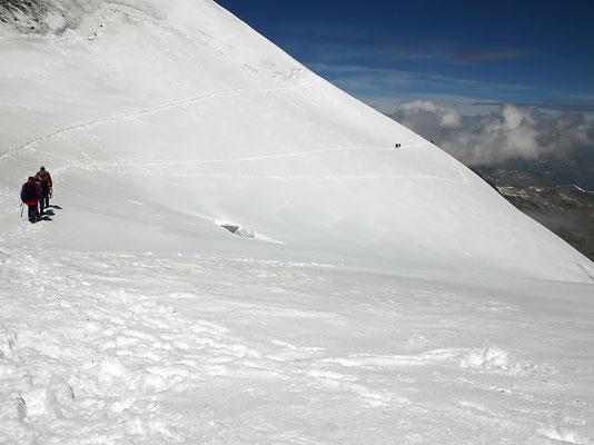 Querung der Fuorcla Bellavista Blick vom Oberen Morteratsch