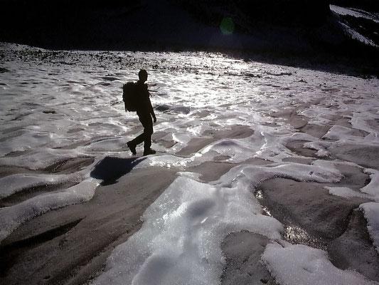 Vereister Gletscherfuß