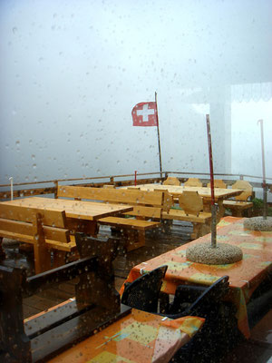 Sturm auf der Bäregghütte