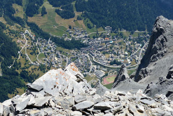Gipfelblick: Leukerbad, 1400 M