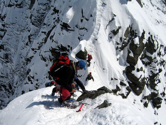 Gipfelblick in die Obere Scharte