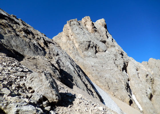 Cima Ombretta di Mezzo, 2983 M - Vorgelagerter Gipfel