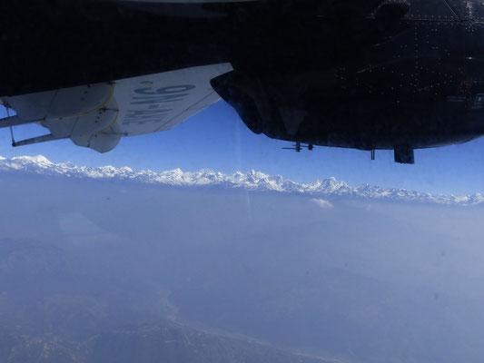 Erster Blick auf den Himalaya