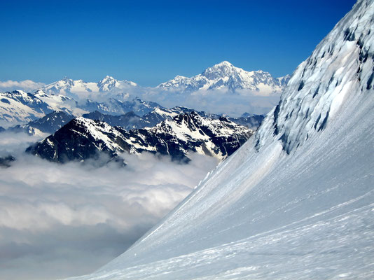 Westwand vor Mont Blanc
