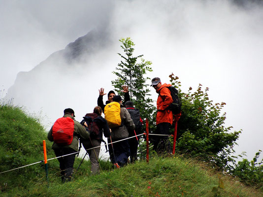 Aufstieg zur Gletscherschlucht