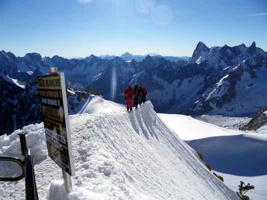Ausstieg ins Vallée Blanche