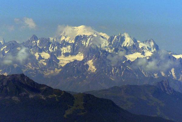 Gipfelblick: Mont Blanc, 4810 M