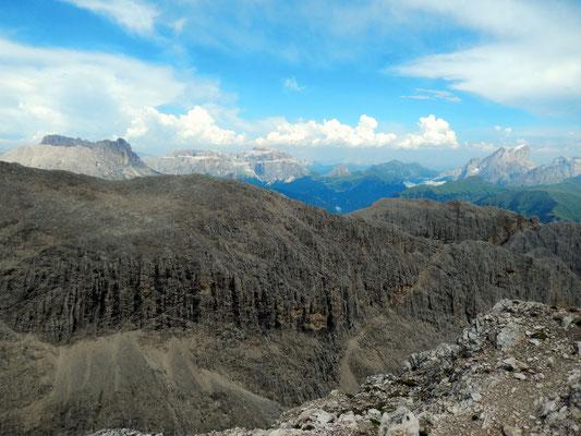 Gipfelblick - Langkofel - Sella - Marmolada