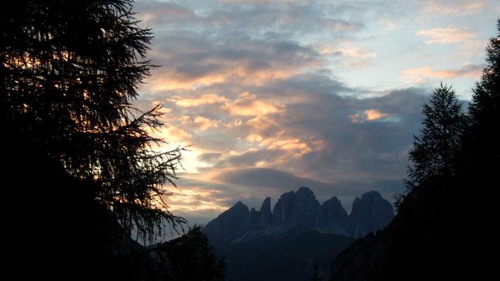 Langkofelgruppe - Abendlicher Blick vom Rif. Contrin