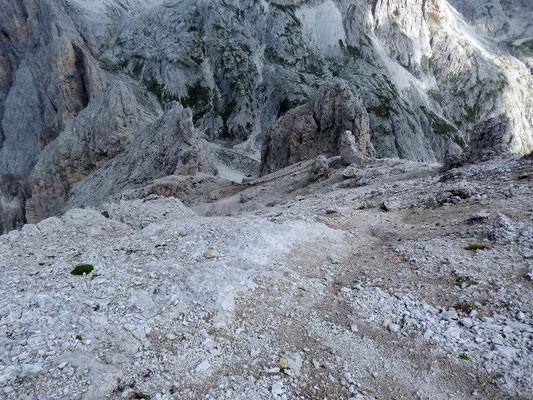 Abstieg aus der Gipfelzone