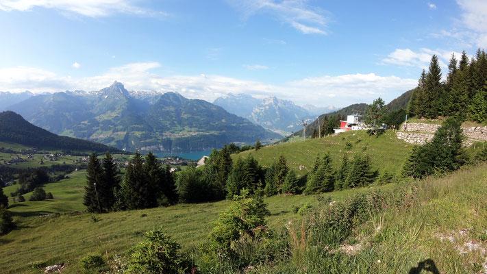 Blick von der Bergstation Niederschlag - 1273 M