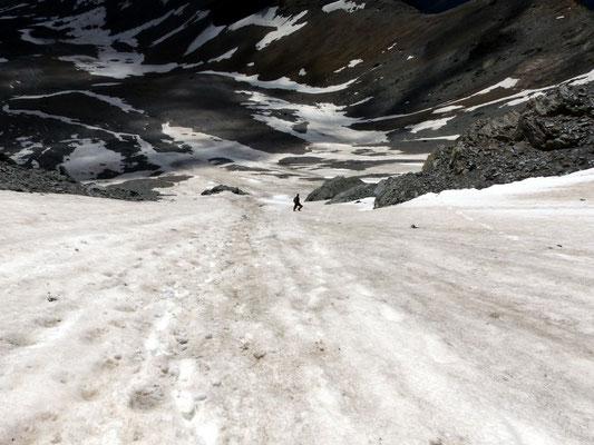 Abstieg - Untere Segnas-Westflanke