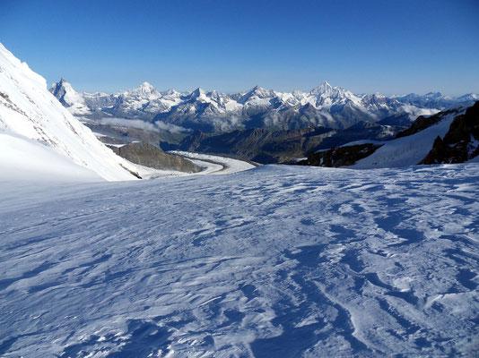 Plateau über dem Grenzgletscher