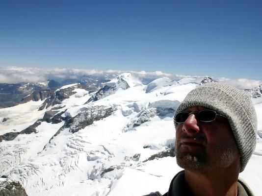 Blick zum Berninagipfel