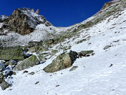 Blick zurück zum Col des Roux - 2804 M
