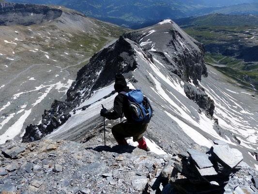 Abstieg - Segnas-Südgrat - 3099 M