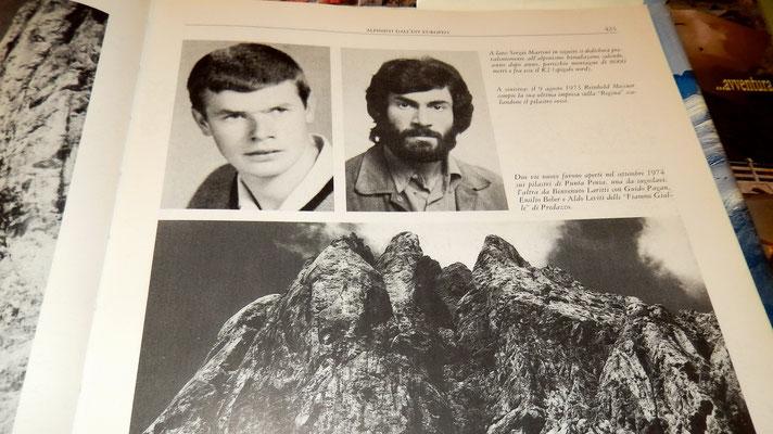 Erstbegehung des Marmolada-Westpfeilers durch Reinhold Messner 1973