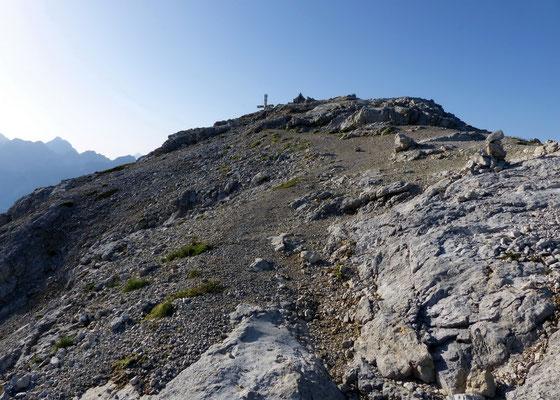 Erster Blick auf den Gipfel