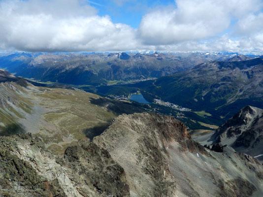 Blick nach St. Moritz und Pontresina